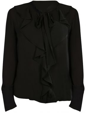ONLY Dámska košeľa New Intu Ls Frill Shirt WBN Black 34