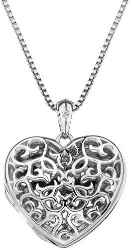 Hot Diamonds Prívesok Hot Diamonds Small Heart Filigree Locket DP671