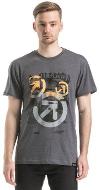 Meatfly Tričko Pulse T-shirt E - Heather Charcoal L