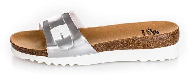 d5e77c72f965 Scholl Dámske šľapky Ginni Bioprint Silver F271541057 37 značky Scholl -  Lovely.sk
