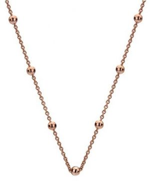 Hot Diamonds Strieborná retiazka Emozioni Rose Gold Cable with Ball CH004