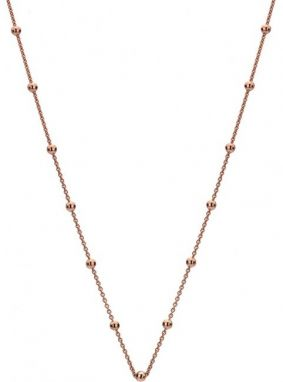 Hot Diamonds Strieborná retiazka Emozioni Rose Gold Cable with Ball CH006