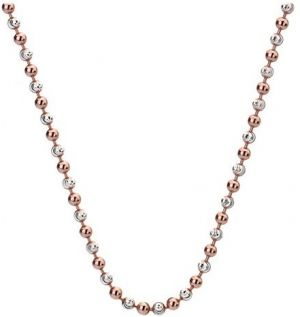 Hot Diamonds Strieborná retiazka Emozioni Silver and Rose Gold Bead 45 CH019