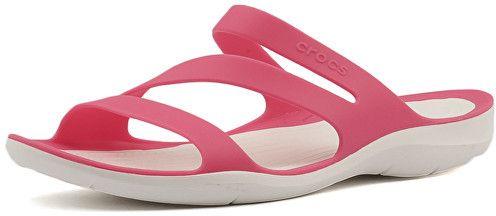 6c3a411605 Crocs Dámske šľapky Swiftwater Sandal Paradise Pink White 203998-6NR 36-37