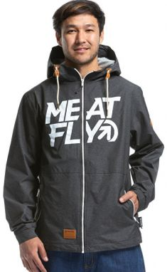 Meatfly Pánska bunda Finn 2 Windbreaker B-Heather Grey M