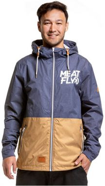 Meatfly Pánska bunda Finn 2 Windbreaker D-Ht. Brown, Ht. Dark Blue S