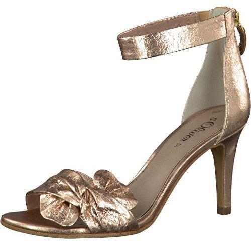 92e60b5bfc Oliver Elegantnej dámske remienkové topánky Textile Rose Metallic  5-5-28350-38-519 37 značky s.Oliver - Lovely.sk
