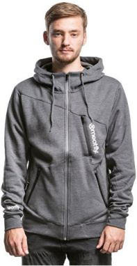 Meatfly Pánska mikina Spot light Technical Hood ie B Heather Charcoal L