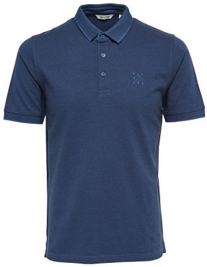 ONLY&SONS Pánske tričko Stan Ss Fitted Polo Tee Noos Ensign Blue M