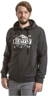 Meatfly Pánska mikina Wanderlust Hood ie B- Heather Charcoal M