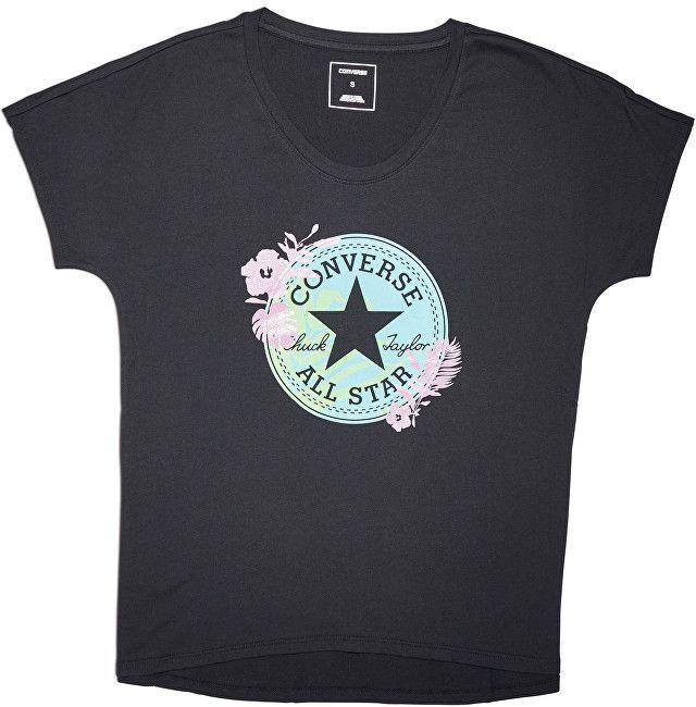 1ab90032abe7 Converse Dámske tričko Converse Palm Print CP Fill Femme Tee Black M značky  Converse - Lovely.sk