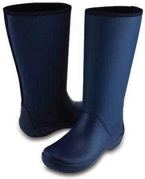 7e3f892ad5ce0 Crocs Dámske modré gumáky RainFloe Tall Boot Navy 203416-410 36-37