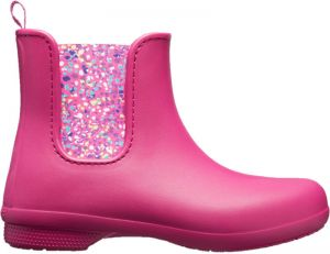 Crocs Dámske gumáky Crocs Freesail Chelsea Boot Berry/Dots 204630-6PC 36-37
