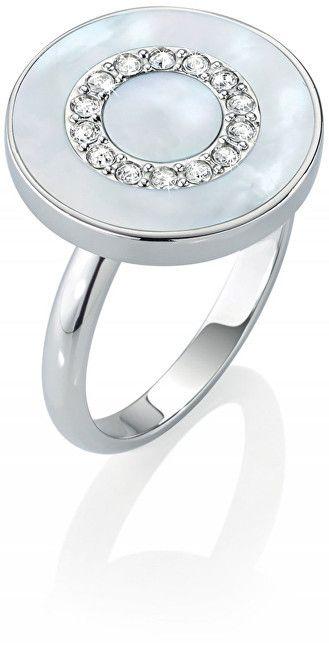 c2b1495d3 Morellato Strieborný prsteň s perleťou a kryštály Perfetti SALX09 58 ...