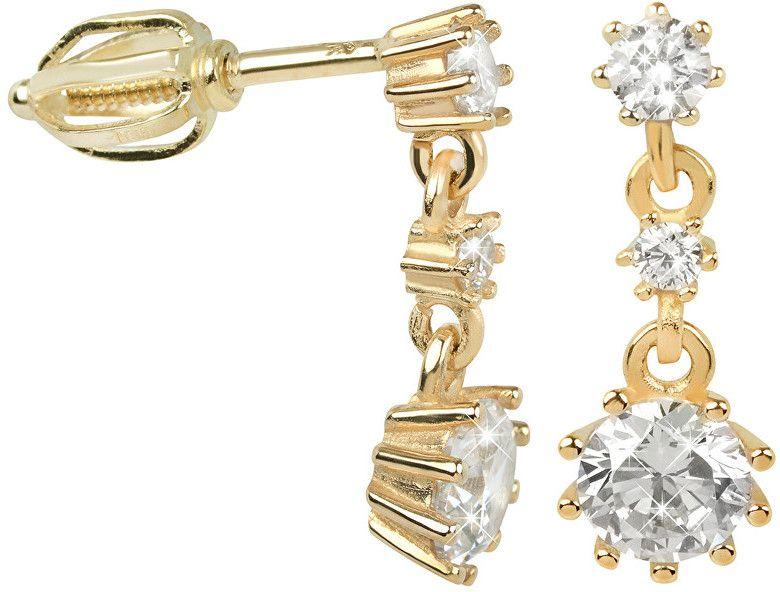 93a88e784 Brilio Náušnice zo žltého zlata s kryštálmi 239 001 00650 - 2,20 g ...