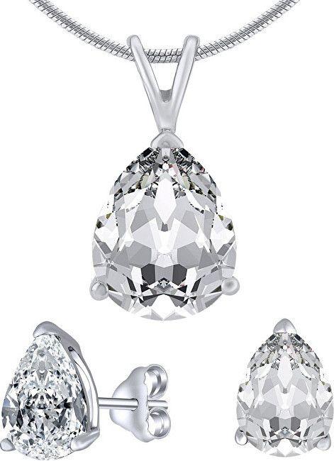 c8b3b8582 Silvego Strieborný set šperkov s čírym krištáľom JJJS8888 (náušnice,  prívesok)