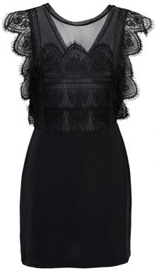 ONLY Dámske šaty Seville Sl Lace Blocking Dress Wvn Black 34