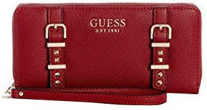 Guess Dámska peňaženka Eileen Large Zip-Around Wallet Crimson
