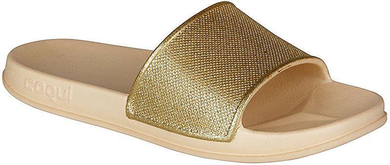 f780ff5eba65 Coqui Dámske šľapky Tora Lt.Beige Gold Glitter 7082-302-6100 38 ...