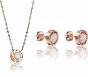 4cb209d29d3db Victoria Walls Súprava náušníc a náhrdelníka s perleťou VS1059R