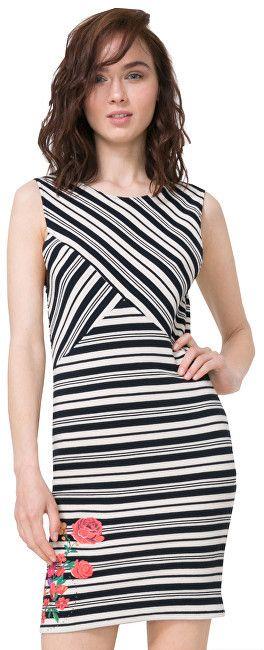 c46d592af54e Desigual Dámske šaty Vest Four 72V2YG0 1000 XS značky Desigual - Lovely.sk