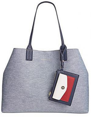 Tommy Hilfiger Elegantná kabelka TH Reversible Double-Sided Large Denim Tote