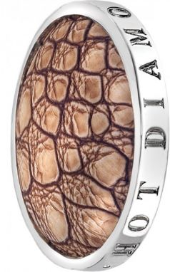 Hot Diamonds Prívesok Emozioni Faux Crocodile Light Brown EC082-092 33 mm