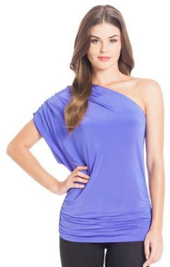 Guess Top Kyle One- Shoulder fialová XS