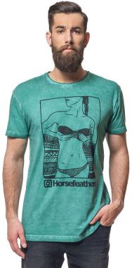 Horsefeathers Tričko Chicka Washed Green SM639D XL