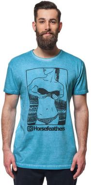 Horsefeathers Tričko Chicka Washed Blue SM639B L