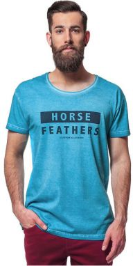 Horsefeathers Tričko Typo Washed Blue SM640A XL