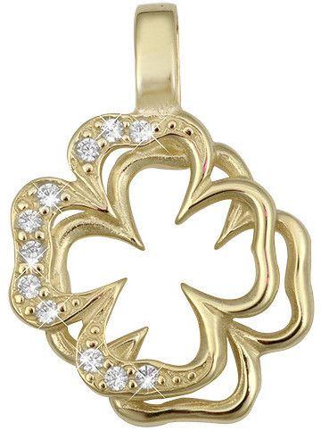 0fe705462 Brilio Zlatý prívesok štvorlístok s kryštálmi 249 001 00438 značky Brilio -  Lovely.sk