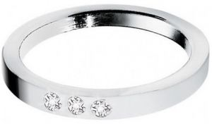 Morellato Oceľový prsteň s diamantmi Love Rings S8530 50 mm