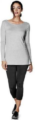 Guess Dámsky elegantný šedý top Jessalin Long-Sleeve Cowl-Back Top XS