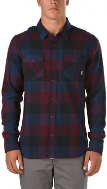 VANS Pánska košeľa Box Flannel Dress Blue s / Port Royale V00JOGKF1 M