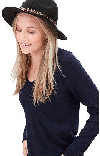 224f4ad8f s.Oliver Dámsky čierny klobúk značky s.Oliver - Lovely.sk