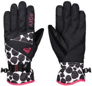 Roxy Dámske rukavice Rx Jetty Gloves J Glove Irregular Dots ERJHN03032-KVJ1 L