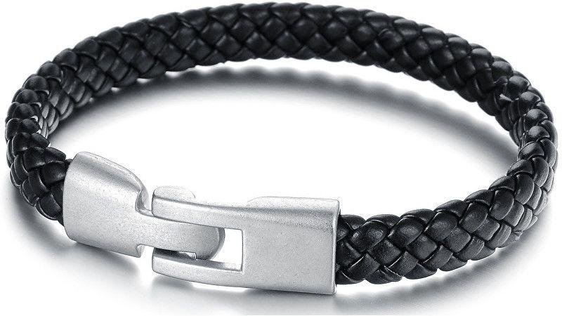 8e5be59a3 Troli Čierny pánsky náramok z prepletané kože Leather značky Troli ...