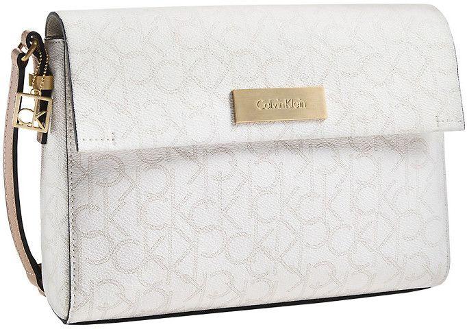 726fee370 Calvin Klein Elegantná crossbody kabelka Jordan Single Compartment Date Bag  biela značky Calvin Klein - Lovely.sk