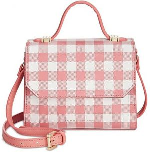 Tommy Hilfiger Elegantná kabelka Gingham Top Handle Crossbody