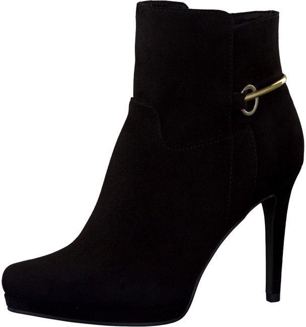 f63a2f5ce3c5 Tamaris Elegantné dámske členkové topánky 1-1-25060-37 001 Black 39 značky  Tamaris - Lovely.sk