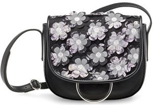 Tamaris Elegantná kabelka Gwen Saddle Bag 2172171-011 Black/White
