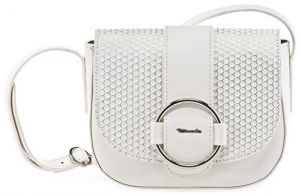 Tamaris Elegantná kabelka Gwen Saddle Bag 2171171-197 White comb.