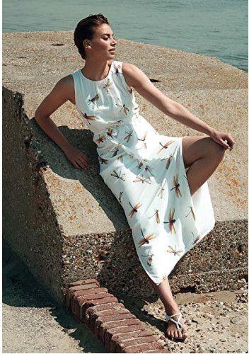 349d83e0438e Smashed Lemon Dámske maxi šaty White 17035 01 S značky Smashed Lemon -  Lovely.sk