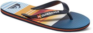 Quiksilver Pánske žabky Molokai Everyday Stripe Blue/Blue/Orange AQYL100234-XBBN 42
