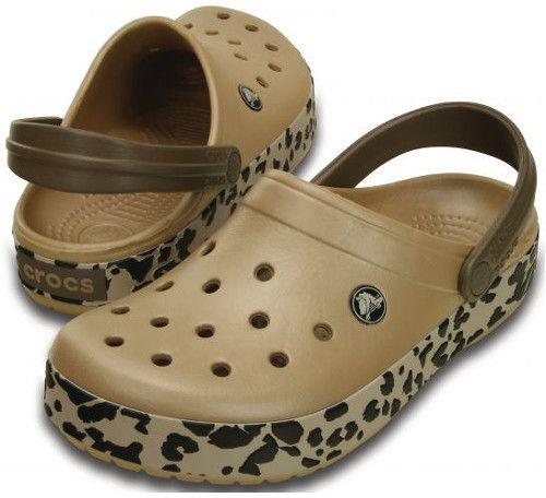2ddcbc31c2 Crocs Dámske šľapky Crocband leopard Clog Gold   Black leopard 203171 36-37