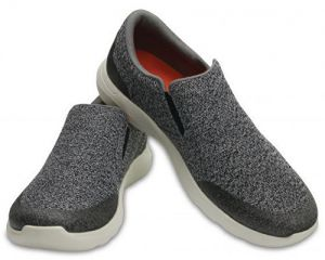 Crocs Tenisky Crocs Kinsale Static Slip-on Charcoal/Pearl White 203977-01R 43-44