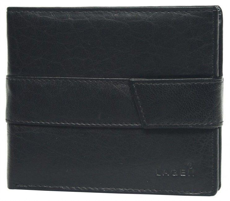 Lagen Pánska čierna kožená peňaženka Black V-03 značky Lagen - Lovely.sk f179df17507