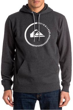 Quiksilver Mikina Big Logo Hood Dark Grey Heather S