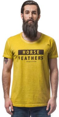 Horsefeathers Tričko Typo Washed Yellow SM640B XL